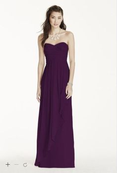 David's Bridal Bridesmaid Dress Choice #1 Color = Plum