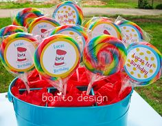 Lollipops for Seuss party