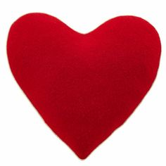 - Red Heart Filled Throw Pillow