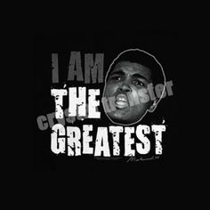 I am the Greatest Muhammad Ali Heat Transfer Label For Clothing