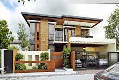 2 story terrace houses - Google Search Two Story House Design, House Front Design, Small House Design, Modern House Design, Modern House Facades, One Storey House, 2 Storey House Design, Modern House Plans, Small House Plans