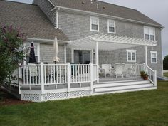 As the weather continues to warm, relief from the sun comes-to-mind and that's where a pergola becomes your deck's new-best-friend.  So if you're wondering about pergola possibilities, well just read on. | Pergola Deck Designs by Archadeck