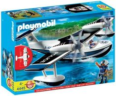 Playmobil Police Seaplane by Playmobil. $59.95. Features locking-grid pieces that allow children to easily change their play worlds. This set is compatible with all other Playmobil vehicles, accessories and environments. Recommended for ages 4 years and up. Playmobil toys are dedicated to encouraging kids to use their imaginations. This Police set has a wingspan of approximately 16 inches. Limited Edition. Floats and has space for two figures. Both propellers are functional. Wi...