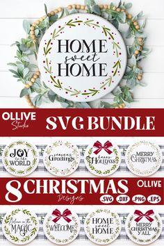 Christmas Rounds Door Signs Bundle SVG#christmassvg #christmasdoorsignsvg #christmasroundssvg