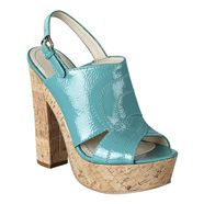 Glossy platforms from Nine West.  Under the sea inspiration. @Nine Scrap West