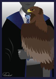 Ravenclaw, Harry Potter Poster, Animal Symbolism, Hogwarts Houses, My Drawings, Batman, Symbols, Superhero, Illustration