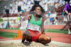 Mikasja Kwasie of Suriname took home gold in the long jump at the Special Olympics World Games in L.A. in 2015.