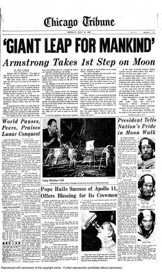 On July 20, 1969, Apollo 11 astronaut Neil Armstrong, is the first person to walk on the moon.