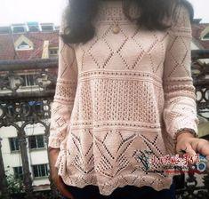 Пуловер спицами. Пуловер от японских мастериц спицами | Вязание для всей семьи