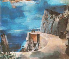 Bernáth Aurél: Riviera, vászon, olaj, 130 x 150 cm, Famous Pictures, Oil Painting Reproductions, Hand Painted, Landscape, Photography, Painters, Budapest, Roots, Sea