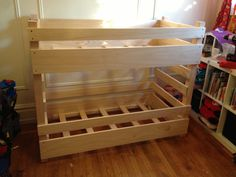 Toddler size bunk beds! Perfect for small rooms!
