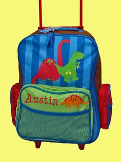 Personalized Stephen Joseph Rolling Luggage by DeerpathDesigns.etsy.com