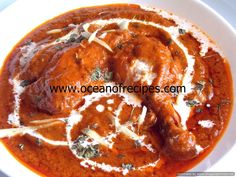 Ocean of Recipes Red Curry Chicken, Indian Chicken, Butter Chicken, Chicken Karahi, Indian Food Recipes, Ethnic Recipes, Desi Food, Baked Chicken Breast, Curry Recipes