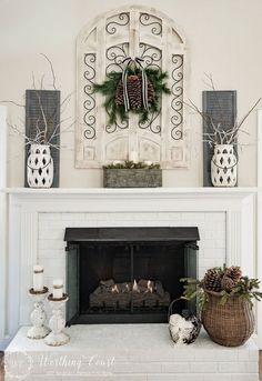 Decorating A Fireplace Mantel elements to decorate a mantel | mantels, twine and master bedroom