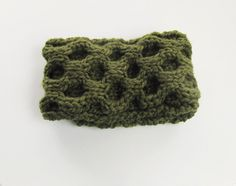 Green Convertible Knit Headband and Cowl Scarf in Easy-Care Wool, Chunky Cowl Scarf, Textured Knits, Crochet Ear Warmer, Winter Fashion. $40.00, via Etsy.