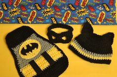 Crochet Batman Newborn Photography Set by KrabKakes on Etsy, $40.00