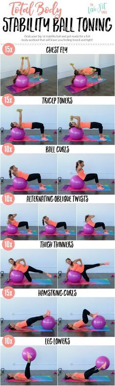 Tighten from head to toe with this Total Body Stability Ball Toning Workout! thelivefitgirls.c...