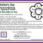 Mother's Day - FREEBIES! My May Gifts for You: Four New FREEBIES include a bracelet, bookmark, corsage or necklace, and note card...