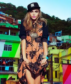 cara jacques dequeker5 Cara Delevingne Hits the Streets for Vogue Brazil Spread
