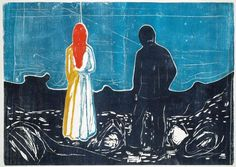 Edvard Munch - Two Human Beings (The Lonely Ones) - 1899