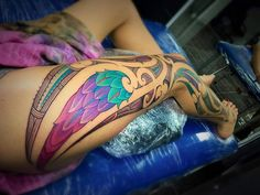 Kingi Pitiroi : Rites Of Passage Tattoo Festival Maori Tattoos, Polynesian Tribal Tattoos, Tribal Tattoos For Women, Leg Tattoos Women, Maori Tattoo Designs, Body Art Tattoos, Tatoos, Thigh Tattoos, Calve Tattoo