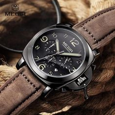 b2379417883 ... men directly from China chronograph wrist watches Suppliers: Megir  fashion casual top brand quartz watches men leather sports watch man  business wrist ...