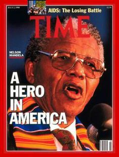 Civil Rights Photograph - Nelson Mandela Time Cover by Time Nelson Mandela, Man Of Peace, African National Congress, Icon Meaning, Time Magazine, Magazine Covers, Nobel Peace Prize, Flesh And Blood, Vintage Magazines