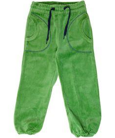 Katvig super zachte groene fluwelen broek met blauw #emilea