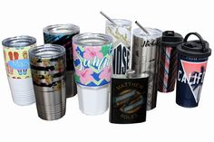 Reproduce full color, photographic images on a trendy accessory. Great for groomsmen or birthday gifts, Father's or Mother's Day. Must be sublimated using a convection oven with SubliShrink. Sublimation Blanks, Trendy Accessories, Drinkware, Groomsmen, Printer, Birthday Gifts, Oven, Father, Mugs