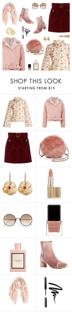 """""""Outfit of the Day"""" by sproetje ❤ liked on Polyvore featuring LUISA BECCARIA, Topshop, AlexaChung, Furla, Rina Limor, L'Oréal Paris, Sunday Somewhere, Context, Gucci and Stuart Weitzman"""