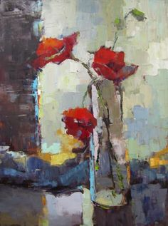 for background work - Barbara Flowers, Poppies Abstract Flowers, Abstract Art, Still Life Flowers, Impressionist Art, Still Life Art, Arte Floral, Beautiful Paintings, Love Art, Painting Inspiration