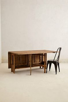 I love to entertain, but with small confines sometimes it's not possible. Putting a big table in a small space is ok for one night, I suppose… - Colonnette Dining Table  #anthropologie