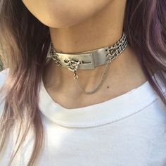 Diy Necklace, Fashion Necklace, Fashion Jewelry, Necklaces, Ankle Jewelry, Leather Jewelry, Leather Collar, Collar And Cuff, O Ring Choker