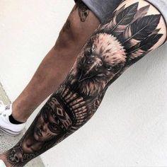 Tatuajes para hombre en la pierna
