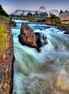 Spokane Falls, Washington State.