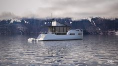 vik unveils electric boat that can be recharged from solar panels or wind power Small Diesel Generator, Small Yachts, Shower Cabin, Electric Boat, Super Yachts, Wind Power, Weekend Trips, Solar Panels, Sailing
