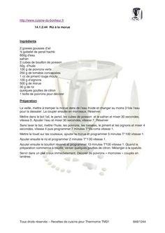 page 830 à 1244 du livre pour le robot culinaire Vorwerk Thermomix Food, Red Chili, Drinks, Livres, Eten, Meals, Diet