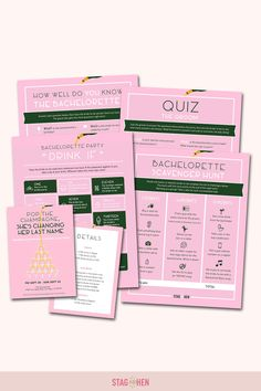It's not a bachelorette weekend without a few fun games to get the party started! We created four classic and fun bachelorette party activities the entire bride squad will love. Choose from a Bachelorette Party Scavenger Hunt, Drink If Drinking Game, Groom Quiz, Bridal Trivia or purchase the bundle and get one game free! Pair with matching bachelorette party invitations, cups, coozies and shirts from our Champagne Campaign Bachelorette Party Collection to complete the theme. Bachelorette Party Scavenger Hunt, Bachelorette Party Activities, Bachelorette Party Drinks, Bachelorette Party Invitations, Bachelorette Weekend, Party Games, Fun Games, Party Favors, Champagne Campaign Bachelorette