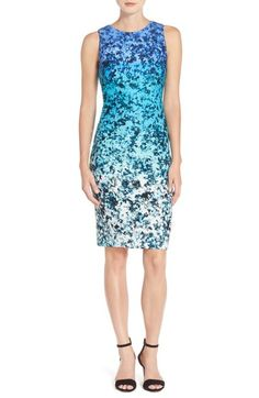 Vince Camuto Print Scuba Sheath Dress available at #Nordstrom