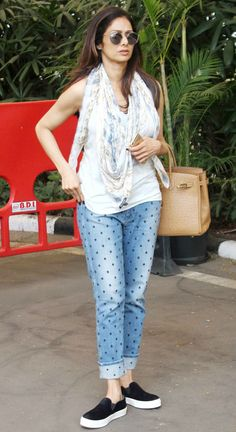 Sridevi spotted at the Mumbai airport.