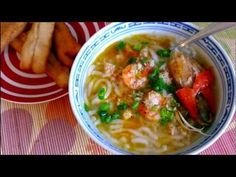 Bánh canh - Vietnamese Thick Noodle Soup. 2 easy methods of making homemade tapioca/rice noodles. GF.