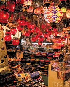 ELLE DECOR GOES TO ISTANBUL    The endless array at the Grand Bazaar.