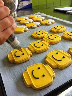 Galletas piezas de Lego
