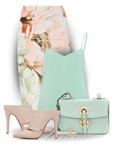 """Spring Skirt"" by bliznec ❤ liked on Polyvore featuring Vero Moda, Valentino and Akira Black Label"