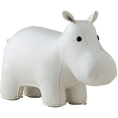 Serena & Lily Menagerie Bookend - White Hippo (215.885 COP) ❤ liked on Polyvore featuring home, home decor, small item storage, white home accessories, white book ends, white home decor, serena & lily and book ends