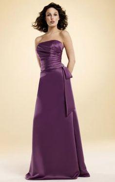 Floor Length Purple Bridesmaid Dress at kissyprom.co.uk