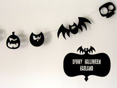 Halloween Garland {With Downloads}