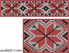 2 Seperate Patterns for Loom Beadwork - Pendant and Strap coordinated Patterns  #heartbeadwork  #loombeading