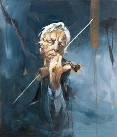 Håkon gullvågs portretter har sjel.. Dette av Arve Tellefsen er helt fantastisk.
