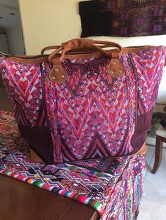 Weekender huipil tote bag XL by NativeBohemian on Etsy
